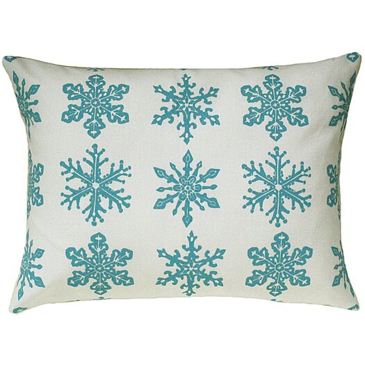 Artgoodies Snowflake All Over Pattern Block Print Accent Pillow