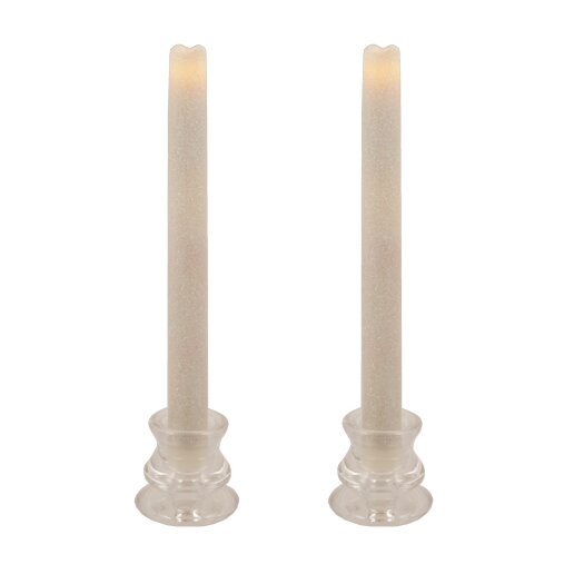 Pacific Accents Glitter Wax Flameless Tapers Candle