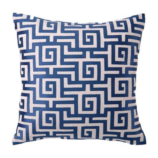 D.L. Rhein Greek Embroidered Throw Pillow