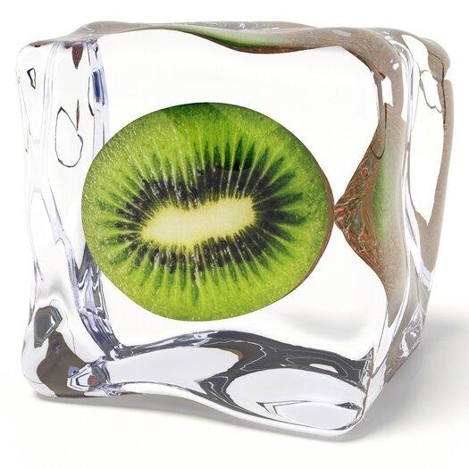 Platin Art Deco Glass Iced Fruits 2 Piece Photographic Print Set