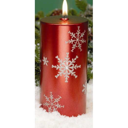 Biedermann and Sons Snowflake Pillar Candles