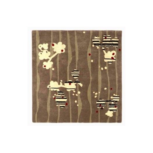 Twinkle Living Brown / Light Yellow Cherry Blossom Area Rug