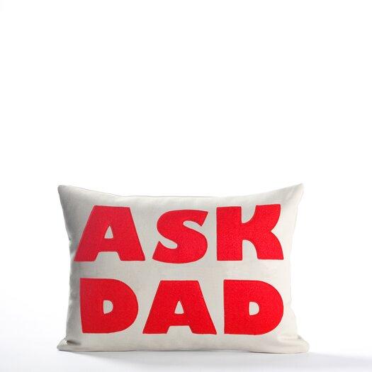 Ask Dad Decorative Lumbar Pillow