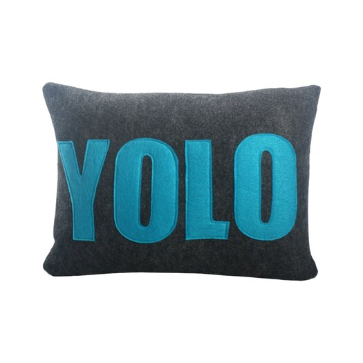 YOLO Decorative Lumbar Pillow
