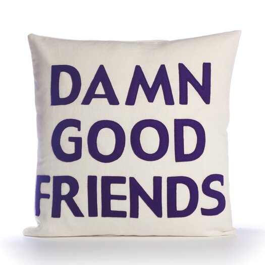Alexandra Ferguson Damn Good Friends Decorative Pillow