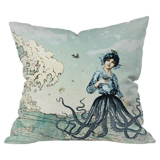 DENY Designs Belle13 Sea Fairy Polyester Throw Pillow