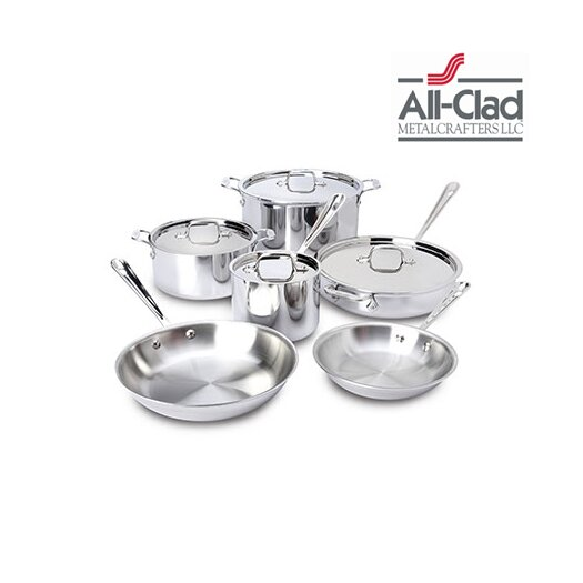 All-Clad Stainless Steel 10 Piece Cookware Set I