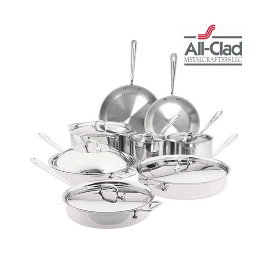 All-Clad Stainless Steel 14 Piece Cookware Set I