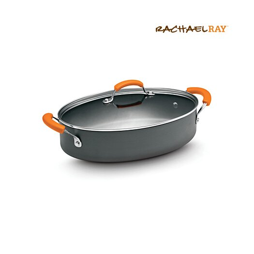 Rachael Ray Hard-Anodized II Nonstick 5-qt. Paella Pan with Lid