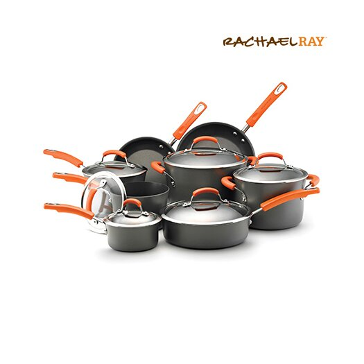 Rachael Ray Hard Anodized II Nonstick 14 Piece Cookware Set