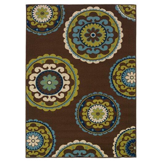 Oriental Weavers Caspian Brown / Green Indoor / Outdoor Area Rug