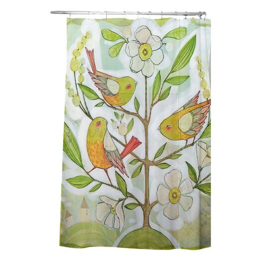 DENY Designs Cori Dantini Woven Polyester Community Tree Shower Curtain