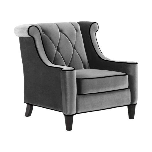 Armen Living Barrister Velvet Chair