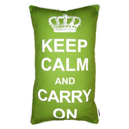 lava Keep Calm Pillow