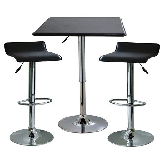 Buffalo Tools AmeriHome I 3 Piece Adjustable Height Pub Table Set
