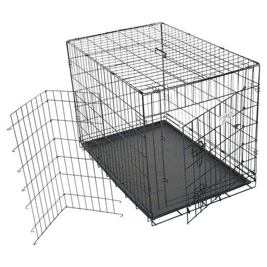 Majestic Pet Products Single Door Folding Pet Crate