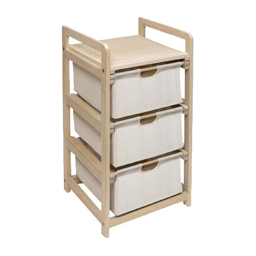 Badger Basket 3 Drawer Hamper & Storage Unit