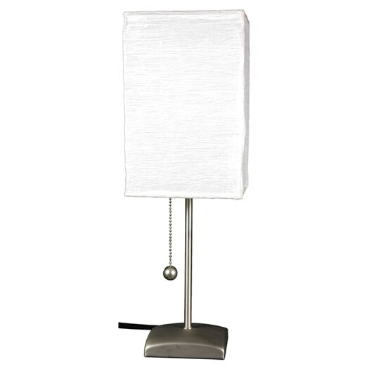"Oriental Furniture Yoko 17"" H Table Lamp with Square Shade"