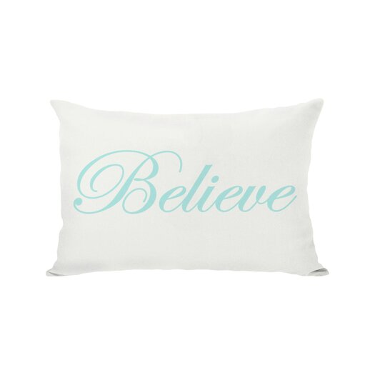 One Bella Casa Holiday Believe Reversible Pillow