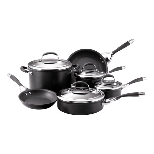 Circulon Elite Aluminum 10 Piece Cookware Set