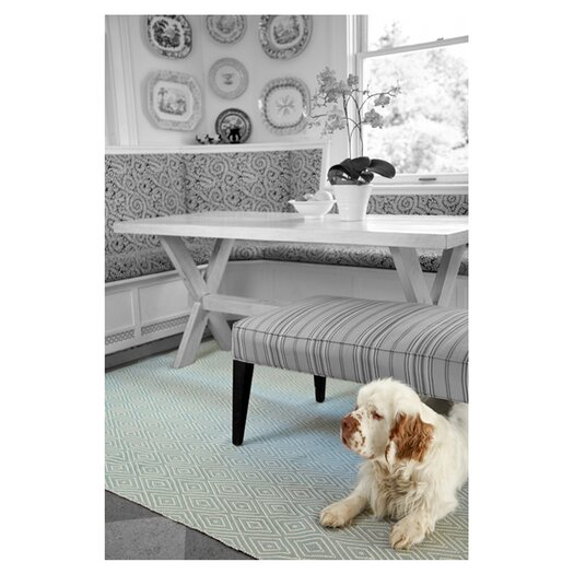 Dash and Albert Rugs Woven Light Blue Diamond Indoor/Outdoor Area Rug
