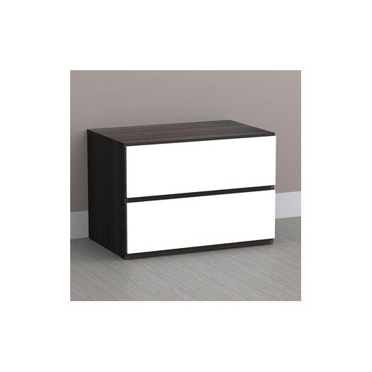 Nexera Allure 2 Drawer Nightstand