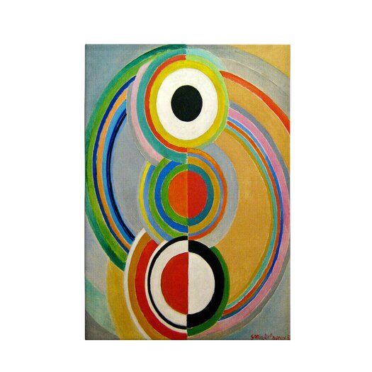 iCanvas Rythme 1938 by Sonia Delaunay Painting Print on Canvas