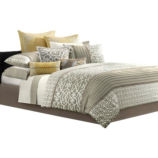 Natori Fretwork 4 Piece Comforter Set