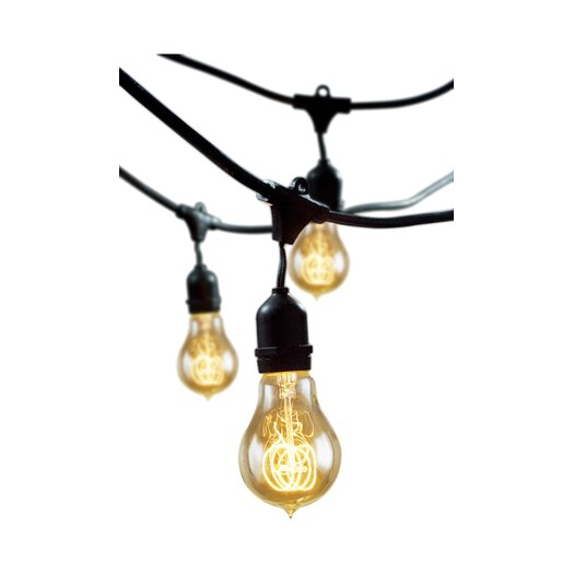 Bulbrite Industries 15 Light Outdoor String Light with Vintage Edison Bulbs