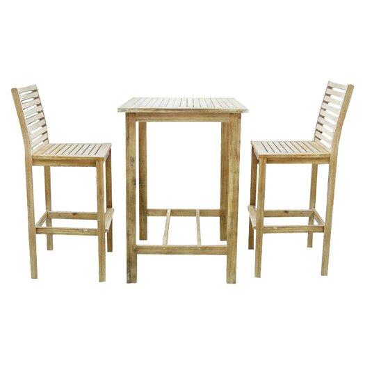 Vifah Renaissance 3 Piece Dining Set