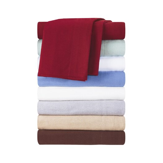 Pointehaven 4 Piece Flannel Sheet Set