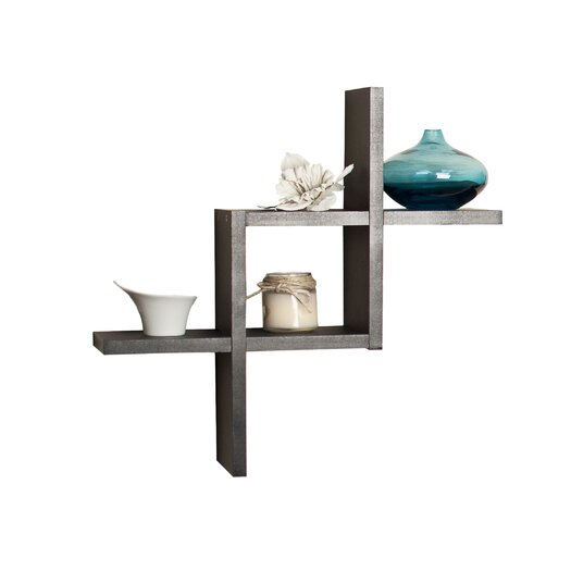 Danya B Reversed Criss Cross Wall Shelf