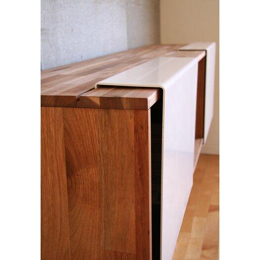 "Mash Studios 3X 15"" LAX Series Wall-Mounted Bookcase"