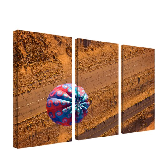 "Trademark Global ""Cracked Highway"" by Aiana Photographic Print 3 Panel Art Set"
