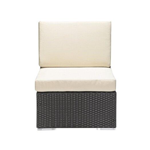 dCOR design Cartagena Outdoor Armless Deep Seating Chair in Chocolate