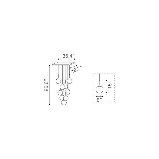 dCOR design Epsilon 9 Light Ceiling Lamp