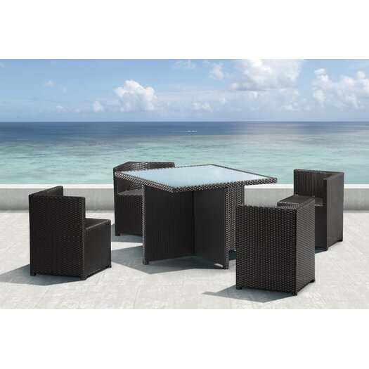 dCOR design Turtle Bach 5 Piece Dining Set