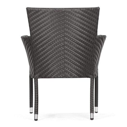 dCOR design Valtos Outdoor Dining Arm Chair with Cushion