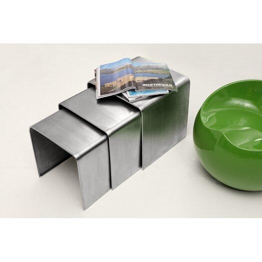 dCOR design Aura 3 Piece Nesting Table Set