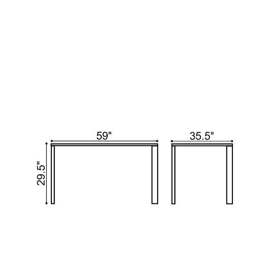 dCOR design Slim Dining Table