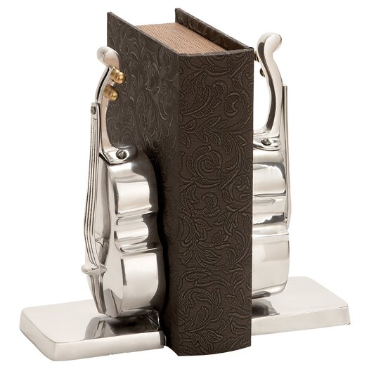 Woodland Imports Library Aluminum Book Ends