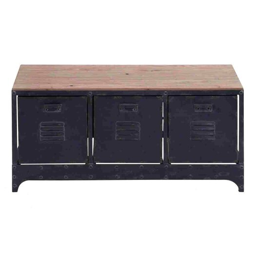 Woodland Imports Handcrafted Storage Bench
