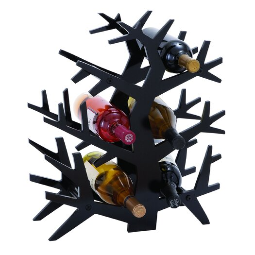 Woodland Imports Tree Branch 6 Bottle Tabletop Wine Rack