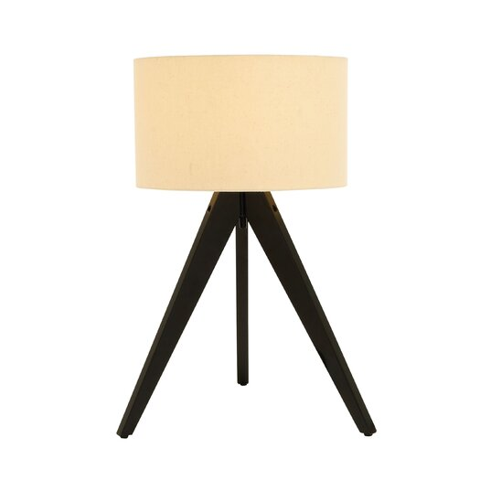 "Woodland Imports Moda 3 Legged 28"" H Table Lamp with Drum Shade"