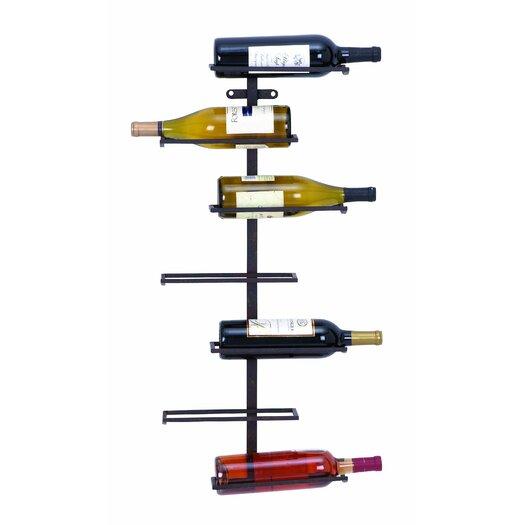 Woodland Imports 7 Bottle Wall Mounted Wine Rack