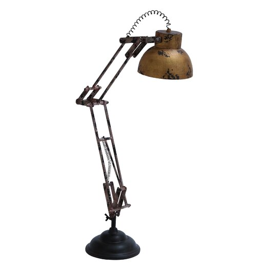 "Woodland Imports Desk Decoration 27"" H Table Lamp with Bell Shade"