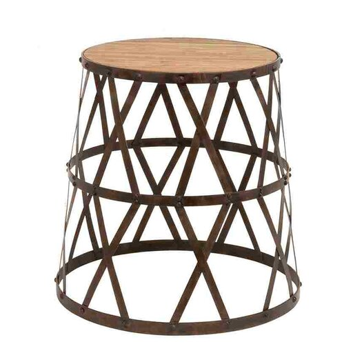 Woodland Imports Vintage Inspired Accent Stool I