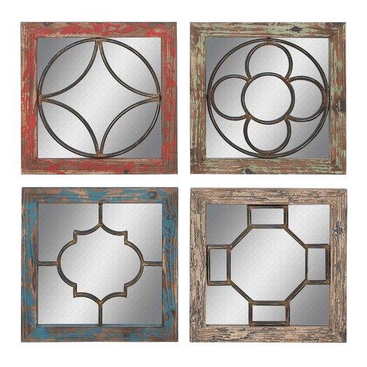 Woodland Imports 4 Piece Wall Mirror Set