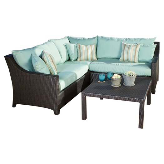RST Outdoor Bliss 4 Piece Deep Seating Group with Cushions