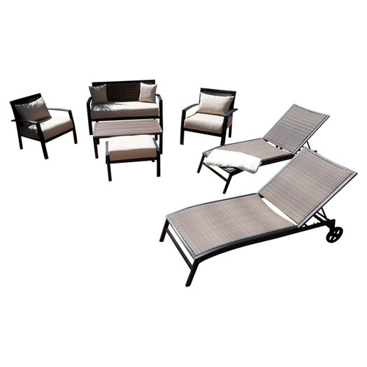 RST Outdoor Zen 7 Piece Lounge Seating Group